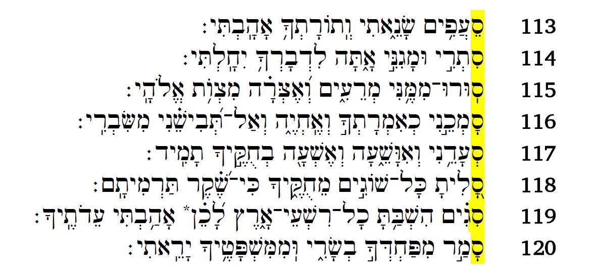 psalm 119v113-120