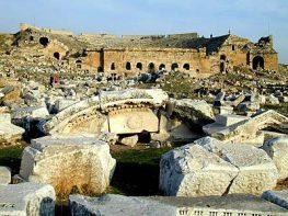 Hierapolis_Apollo_temple_fragments_with_theater,_tb_010301